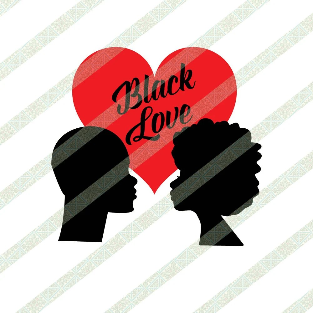 Download Black Love Couple Silhouette Valentine's Day SVG PNG   Etsy
