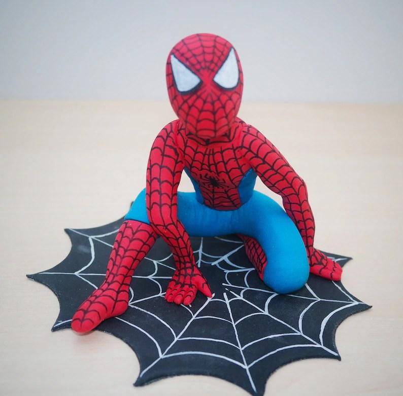 Spider Man Cake Topper Spider Man Birthday Spiderman Etsy