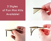 Mini Dollhouse Shelf Kit - Small Unfinished Lasercut Shelf with 3 different Bracket Options - 1:12 Scale Miniature Home Decor Baltic Birch