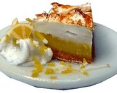 Dollhouse Miniature Pie Slices - 1:12 Scale Mini Food Bakery Pastry Item Pumpkin Lemon Meringue - Restaurant Cafe Miniture Dessert