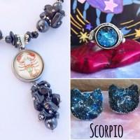 Scorpio Stud Earrings with Astrology/Zodiac Constellation