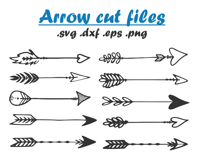 Tribal Arrow Cut Files Arrow Clip Art Svg Dxf Vector