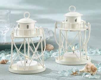 lighthouse centerpiece lantern white nautical ocean beach lantern wedding reception table decoration favor mw30024