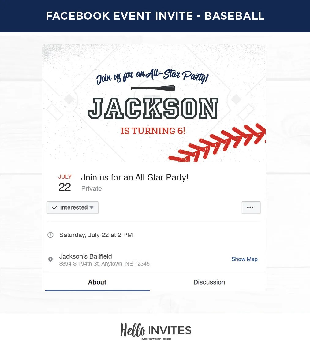 baseball birthday facebook event
