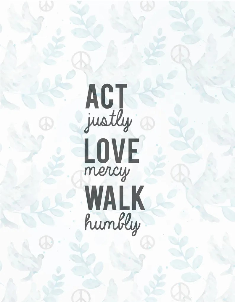 Download Act justly love mercy walk humbly SVG fileJesus svgfaith ...