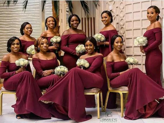 African Bridesmaid DressAfrican Bridal DressBridesmaid