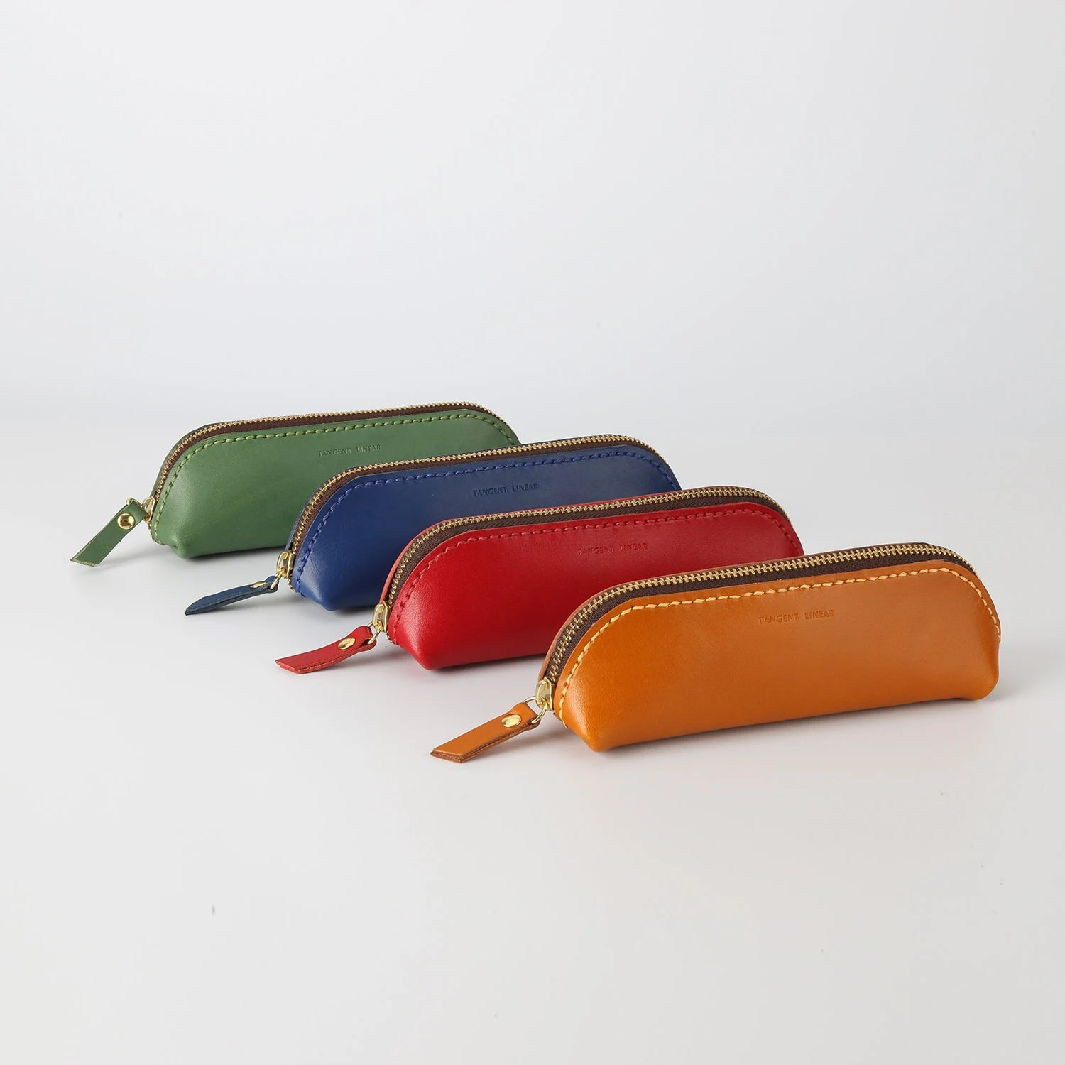 leather pencil pouch etsy