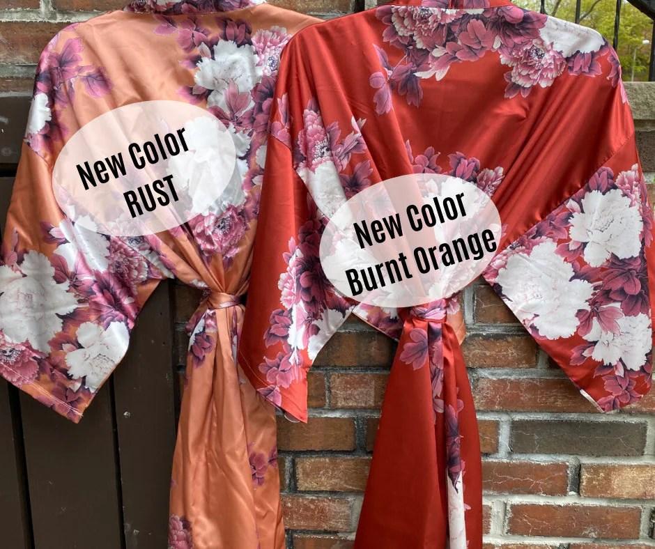 NEW Colors Bridesmaid Robes Floral Kimono Robe Bridal image 3