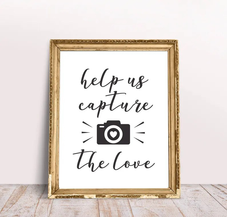 Download Photobooth Print Wedding SVG Help Us Capture The Love | Etsy