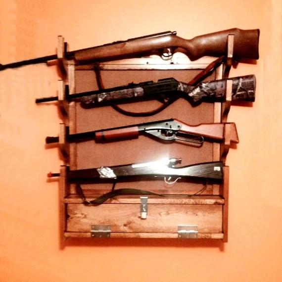 build your own rifle gun rack pattern diy san angelo wall etsy