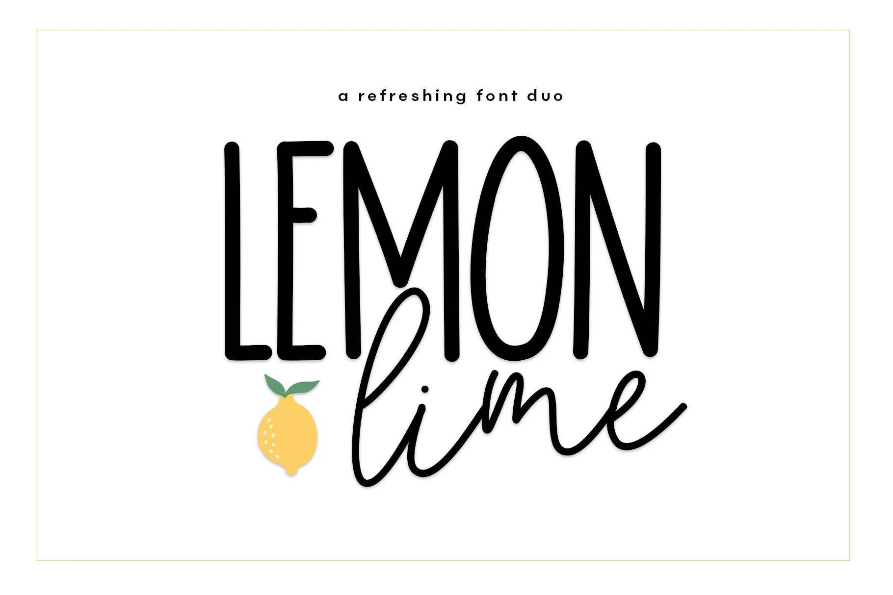 Lemon Lime Font Duo A Script & Print Handwritten Font Duo