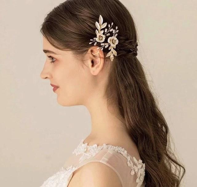 wedding accessories/hair pins/ gold bridesmaid hair pins/ bride accessories/ wedding accessories/ flower girl/ hair accessories/ hair pins