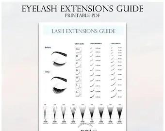 Lash Lift Client Record Card Printable Eyelash Technician