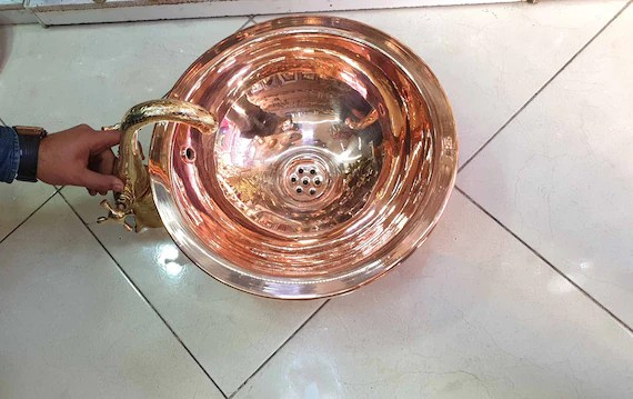 moroccan copper sink with brass faucet bathroom sink wash basin copper toilet lavatory sink basin copper dropped in sink with faucet