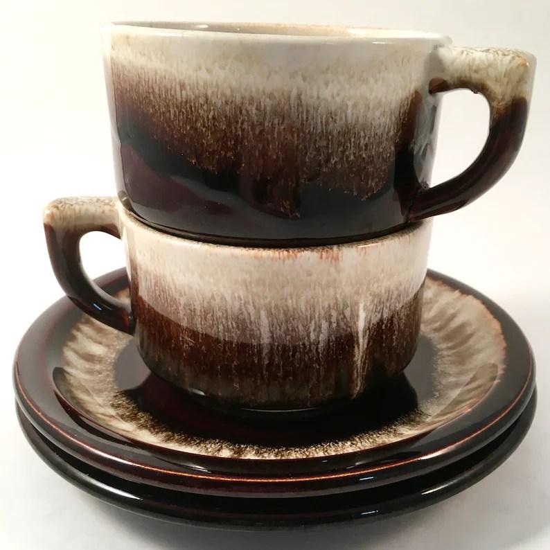 vintage pfaltzgraff brown drip