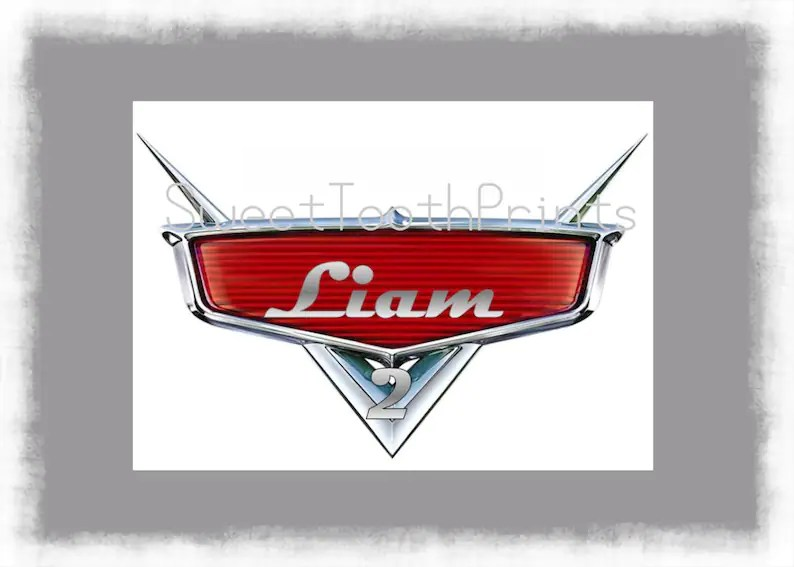 disney cars logo personalize