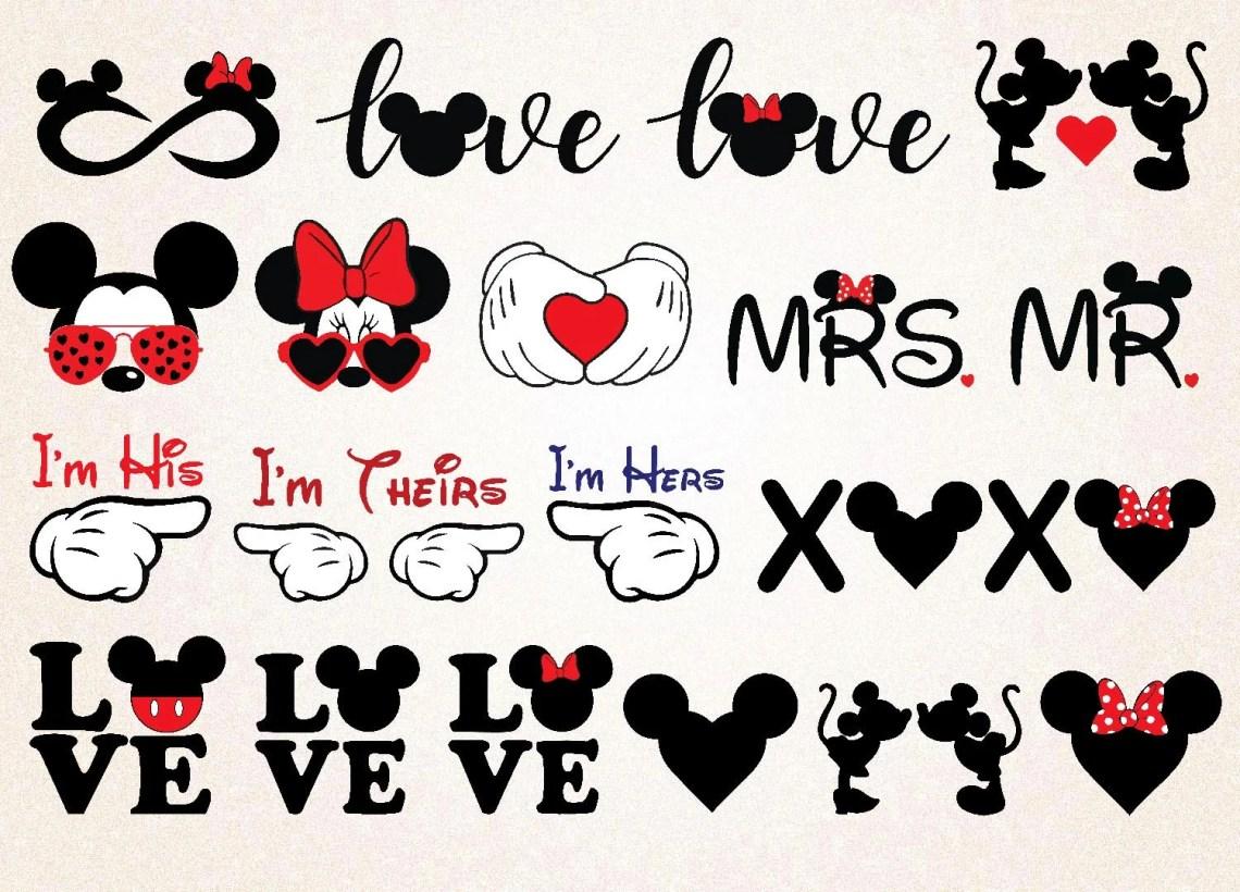 Download Mickey love bundle/mickey minnie svg png/mickey vday ...