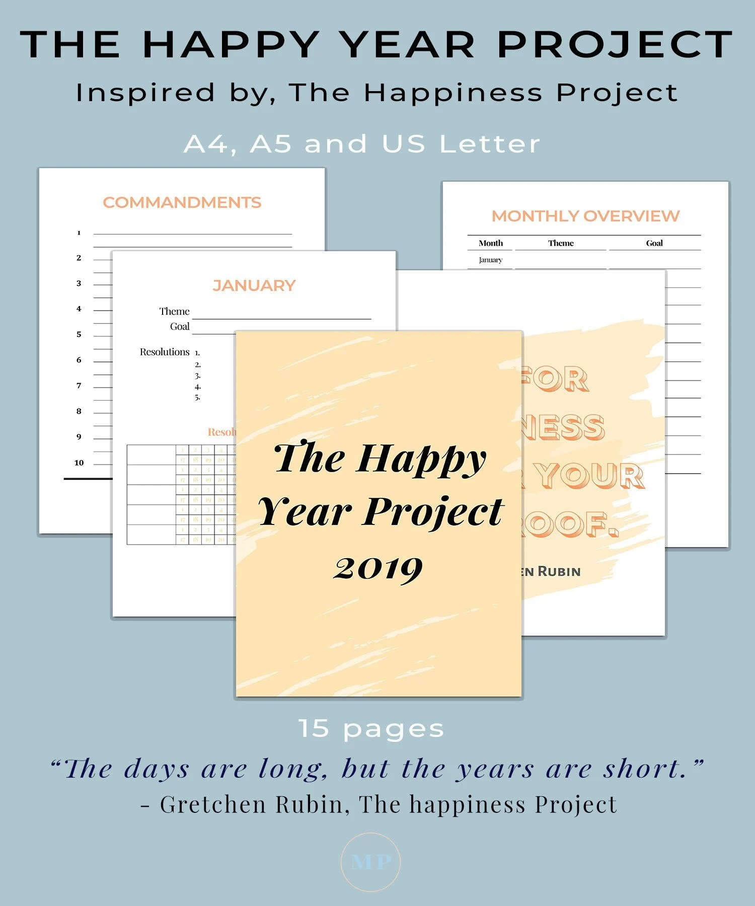The Happiness Project Printable The Happy Year
