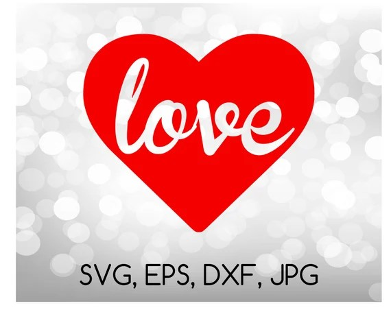 Download Love Inside Heart SVG EPS DXF jpg digital cut file for | Etsy