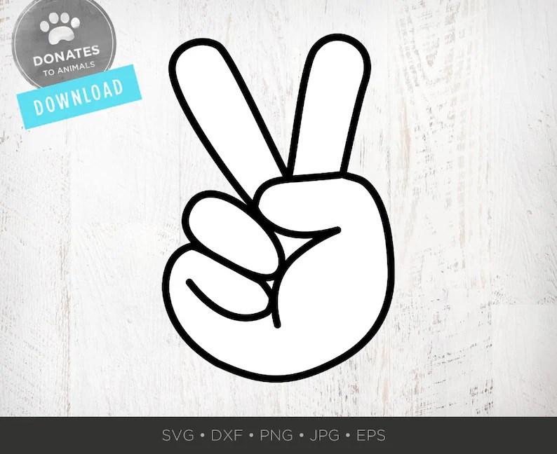 peace hand svg peace