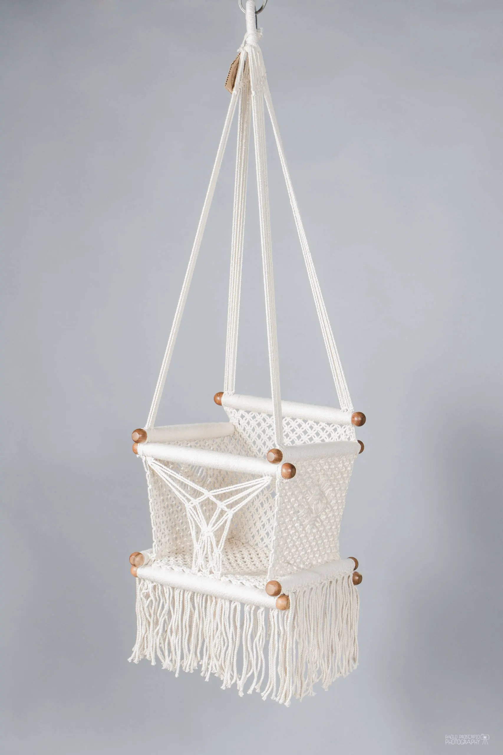 baby swing chair nz paris cafe table and chairs in macrame made cream color cotton