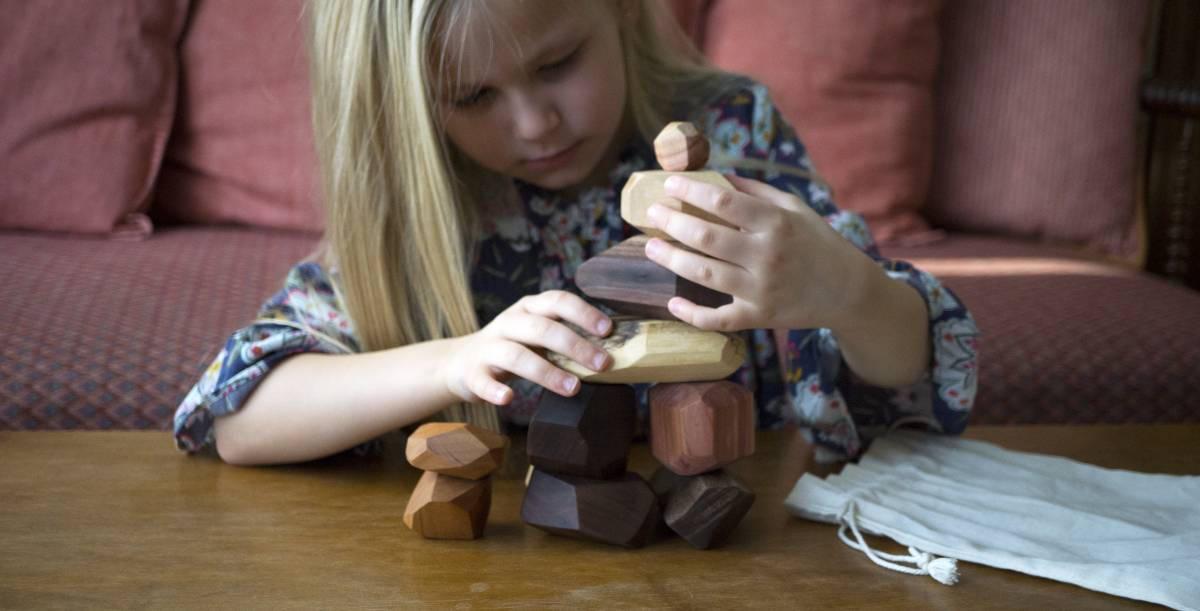 22 piece Tumi Ishi set wooden blocks Wood Stones Baby image 7