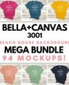 T Shirt Mockup Bella Canvas 3001 Mega Bundle Multi Colors On Etsy