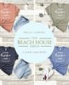 Tshirt Mockup Bella Canvas 3001 Beach House Series T Shirt Etsy
