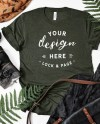 Autumn T Shirt Mockup Bella Canvas 3001 Heather Forest Fall Etsy