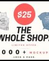 The Whole Shop T Shirt Mockup Mega Bundle Bella Canvas Etsy