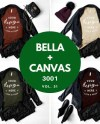 Bella Canvas 3001 Autumn Winter Tshirt Mockup Bundle Tan Rust Etsy