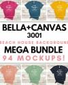 Bella Canvas 3001 T Shirt Mockup Mega Bundle All Colors On Etsy