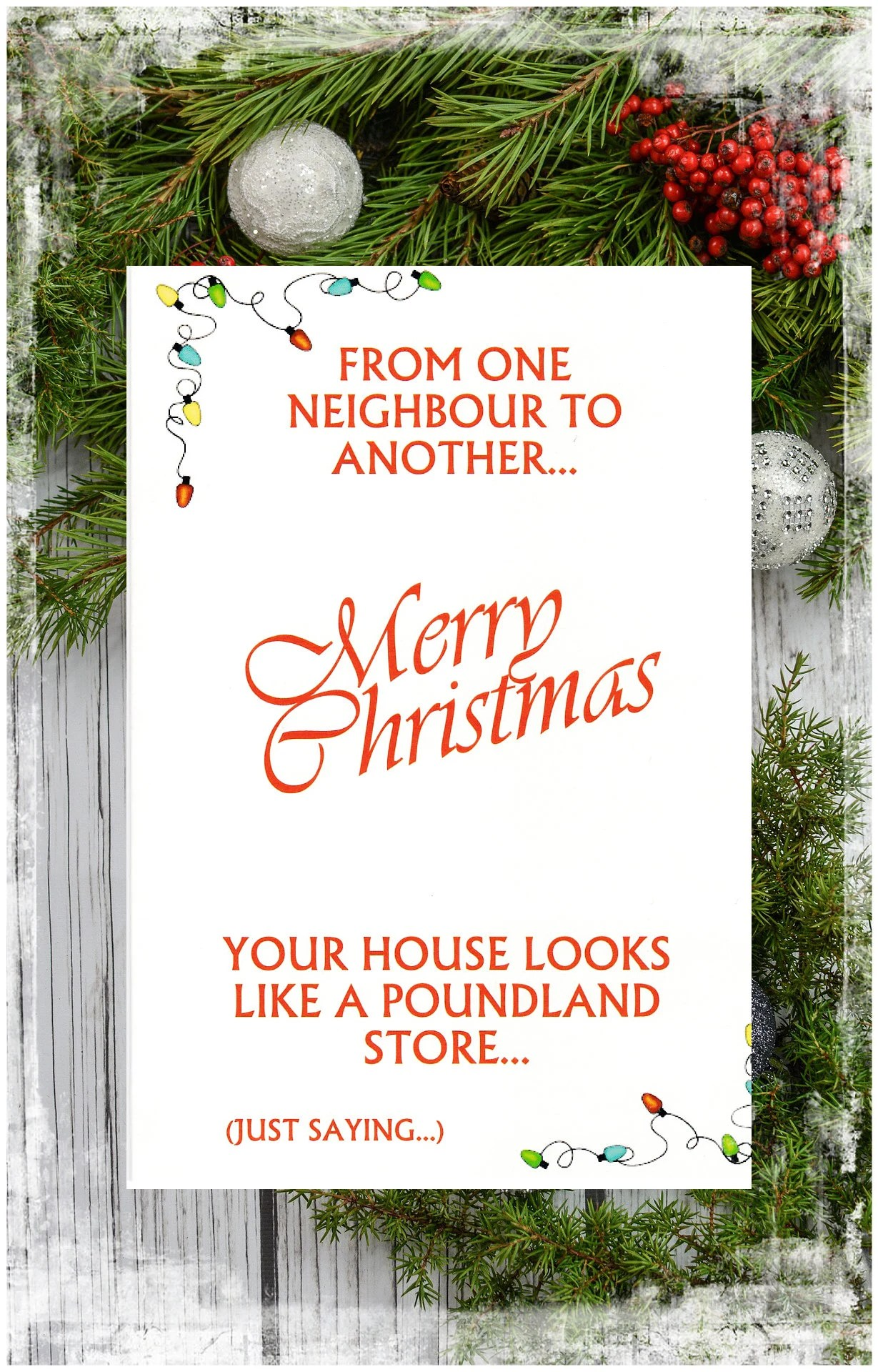 Funny Christmas Cards For Neighbours : funny, christmas, cards, neighbours, Merry, Christmas, House, YoursChristmasXmas