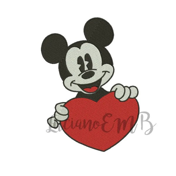 Mickey Mouse6 Embroidery Design-6 Sizes-8 Formats-design