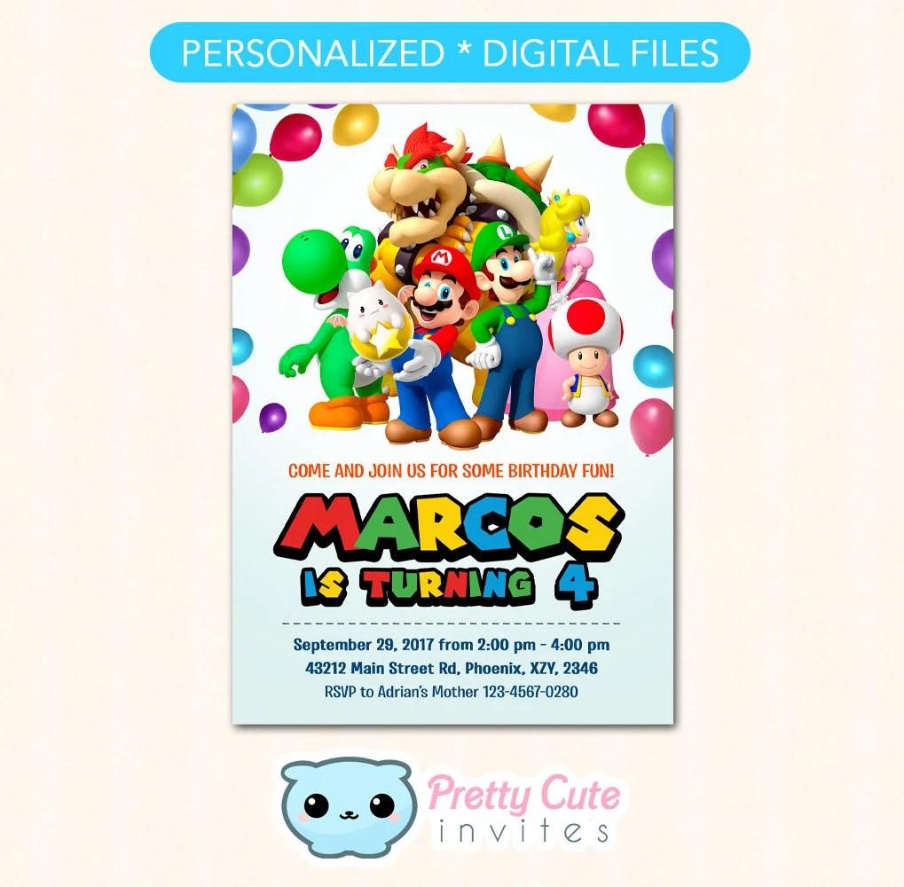 super mario invitation super mario bros birthday invitation super mario invite super mario party invite
