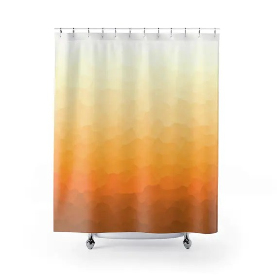 ombre shower curtain burnt orange yellow and brown curtain lemon yellow bathroom curtain