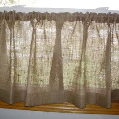 Curtains For The Kitchen Tile Ideas Burlap Etsy Cafe All Natural Curatins Fast Ship