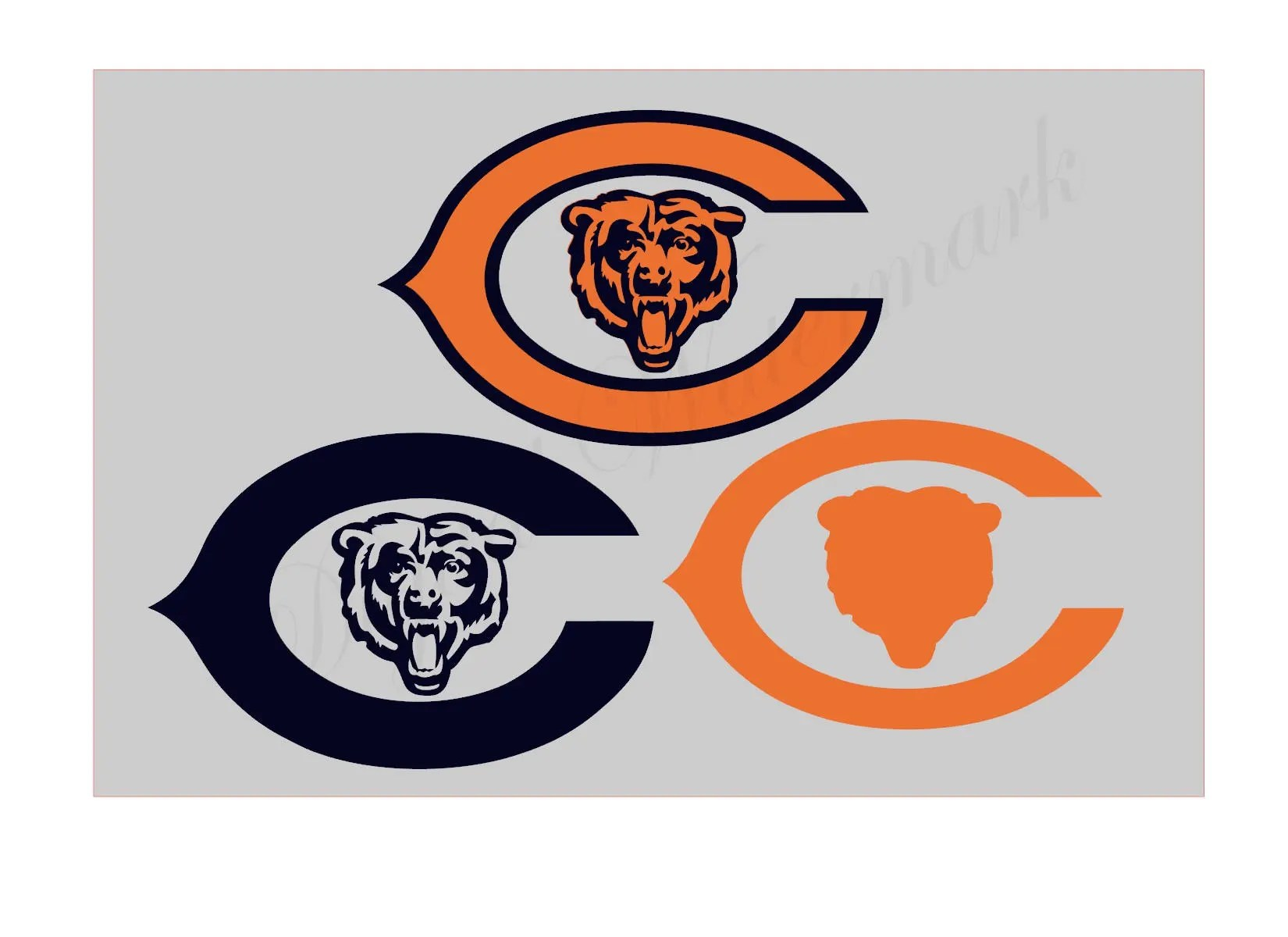 chicago bears logo etsy