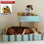 Dog Bed Plan Pet Bed Plan Diy Dog Bunk Bed Plan Diy Cat Bed Etsy