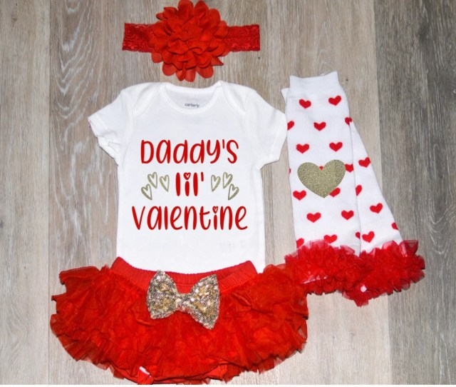 Girl Valentines Day Outfit Daddys Valentine Baby Girl Valentine Outfit Newborn Girl Valentine Outfit Toddler Valentine Shirt