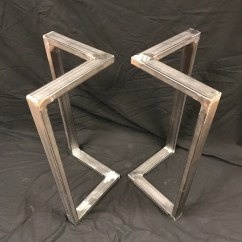 Wooden Sofa Table Legs Intex Inflatable Pull Out Etsy Metal L Shape End Set Of 2 Handmade Base Custom
