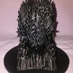 Iron Throne Chair Backboard Desk Tj Maxx Etsy Phone Cradle Stand Dock 3d Print Christmas Printed Decor