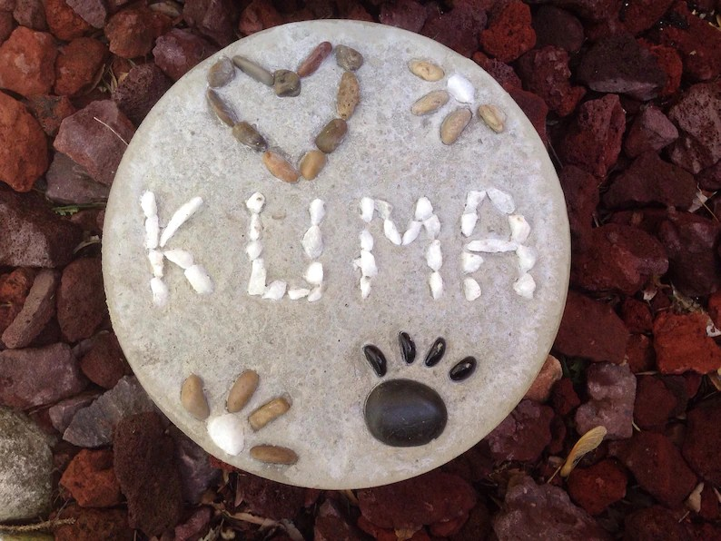 personalized paw print stepping
