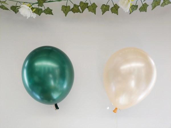 Peach Green Balloons Latex 11 Hen