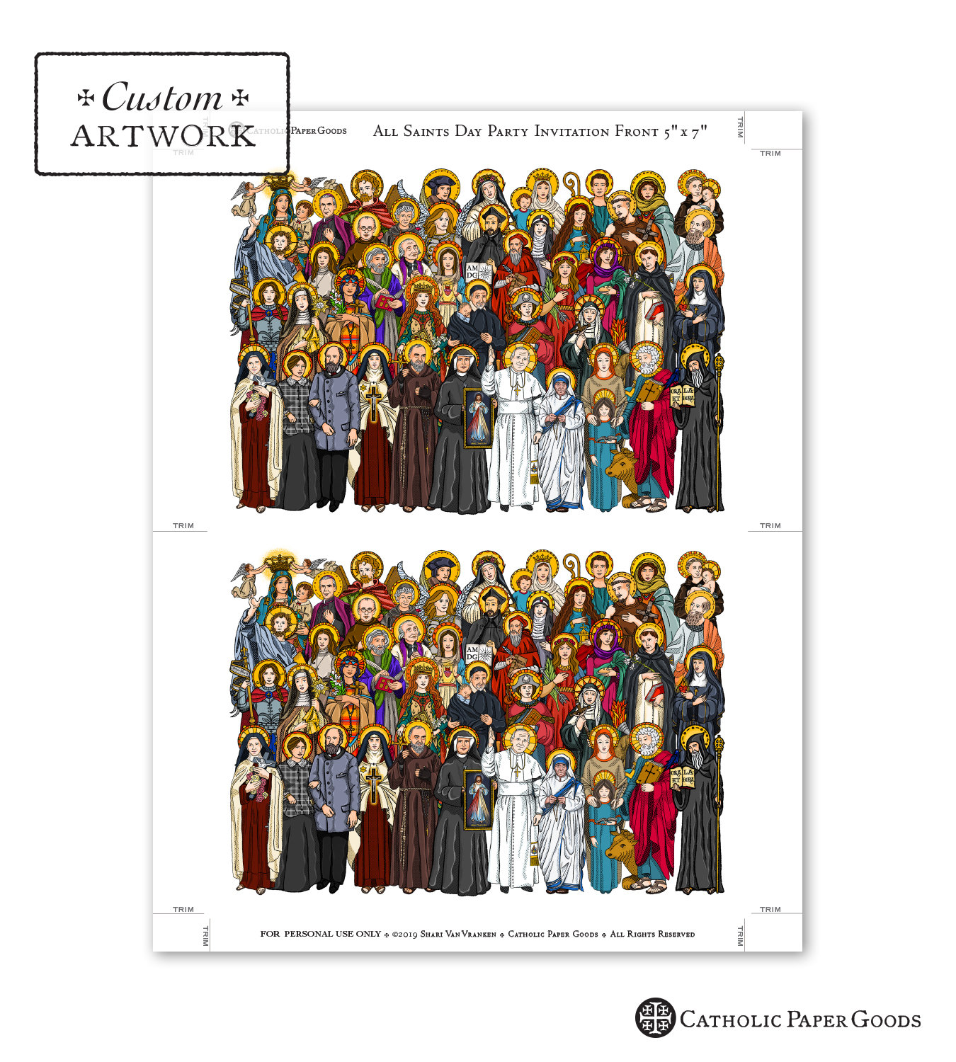 All Saints Day Party Invitation Customizable Template