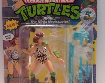 1992 April The Ninja Newscaster Teenage Mutant Ninja Turtles New In Package Vintage Playmates Tmnt April Oneil