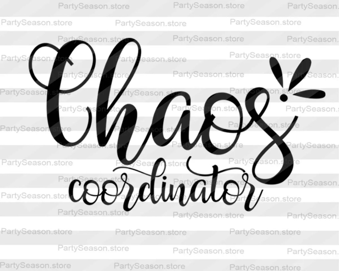 Download Chaos Coordinator SVG Mom Life Svg Cutting File Funny Mom ...