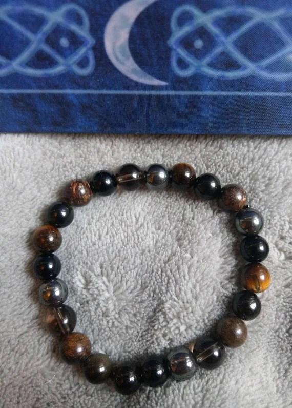 Black Tourmaline Vs Black Obsidian : black, tourmaline, obsidian, Ultimate, Protection, Crystal, Healing, Bracelet, Black