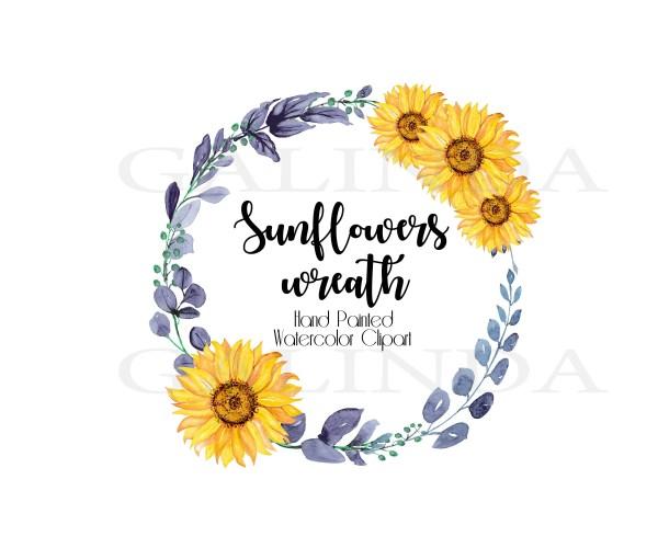sunflowers watercolor clipart sunflower