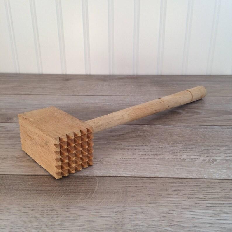 vintage wooden meat mallet